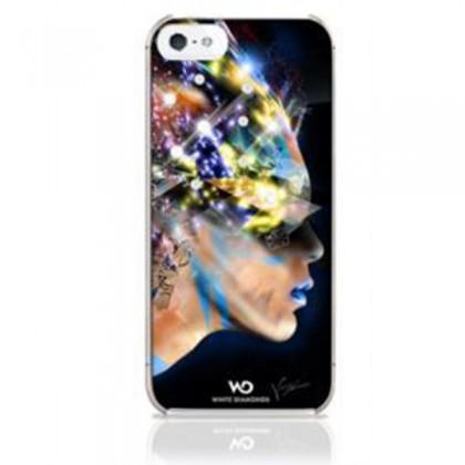 Husa din plastic White Diamonds colectia Nafrotiti pentru iPhone 5 Black