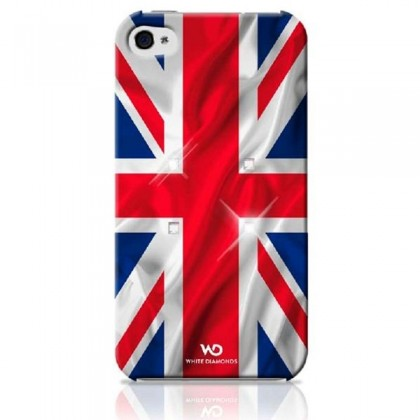 Husa White Diamonds colectia Flag pentru iPhone 5 UK