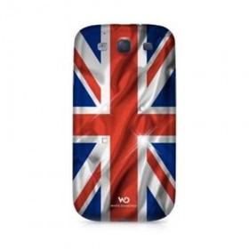 Husa din plastic White Diamonds colectia Flag - UK pentru Samsung Galaxy S3