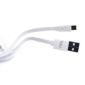 Cablu de date Tellur, microUSB, Alb