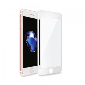 GOLD Full Cover Tempered Glass Iphone 7 Plus White