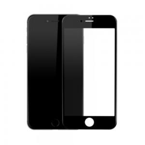 Folie ecran sticla securizata Gold Full Cover pentru iPhone 7 Black - 1