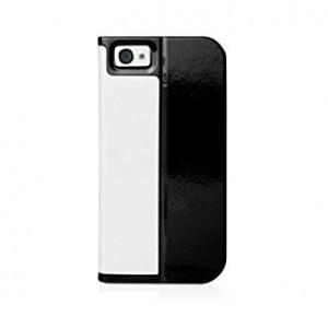Husa si Stand Macally colectia Slim Folio pentru iPhone 5 White