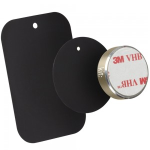 Suport auto telefon magnetic universal HOLMAGGD, prindere de bord, Argintiu