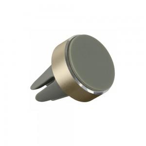 Suport auto telefon magnetic universal prindere grila, Auriu - 1
